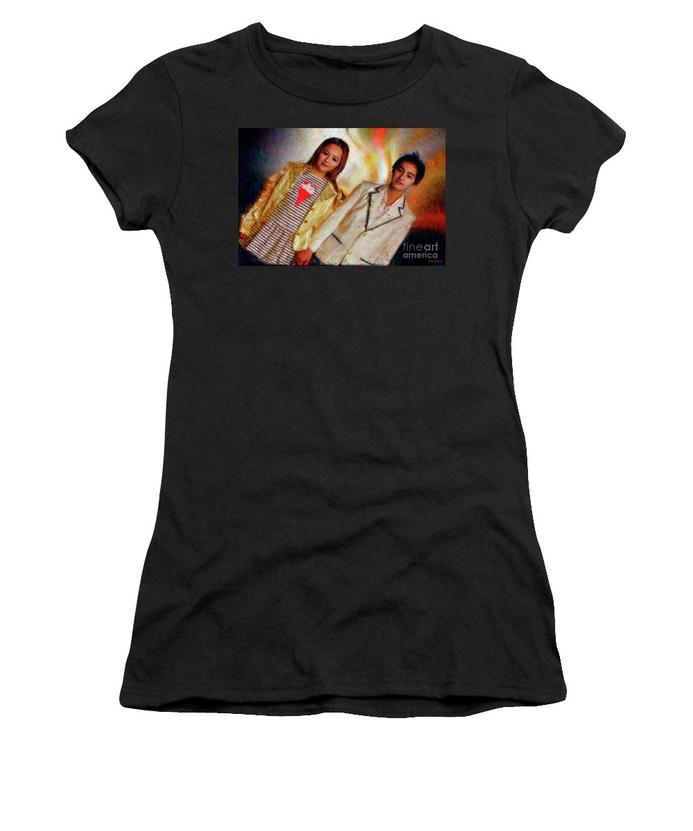 Women's T-Shirt featuring the photograph Andrew Blaner A Night Out by Blake Richards