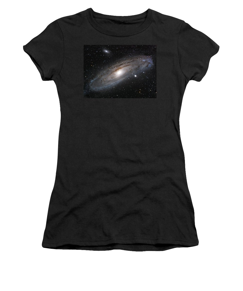 Andromeda Galaxy Women's T-Shirt featuring the photograph Andromeda Galaxy Lightened by William Carter