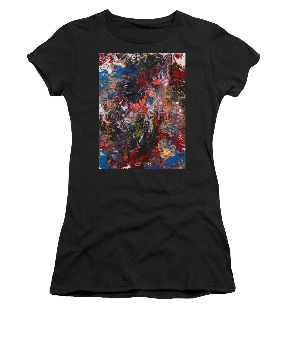 Fusionart Women's T-Shirt featuring the painting Angel Rising by Ralph White