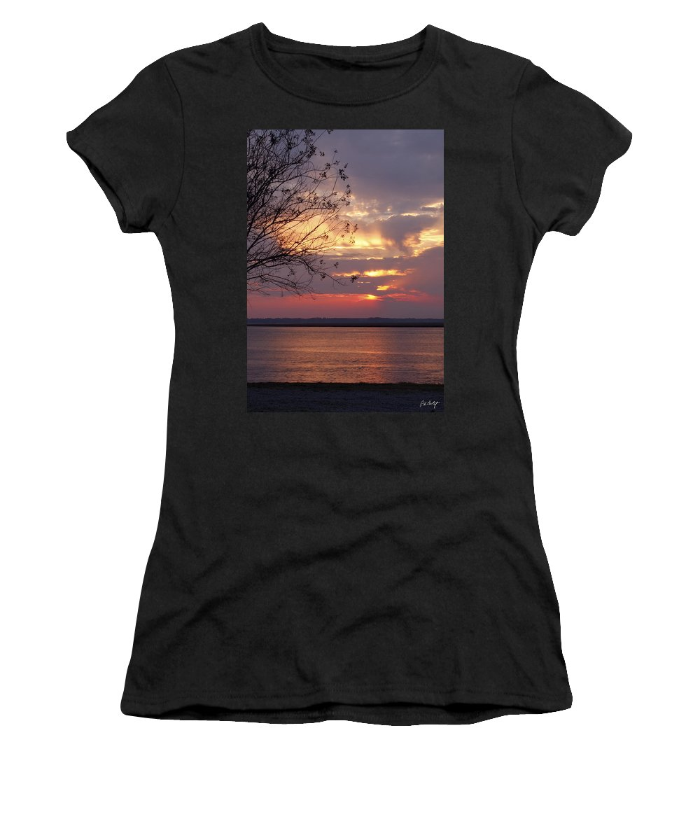 Sunset Women's T-Shirt (Athletic Fit) featuring the photograph Angry Sky by Phill Doherty