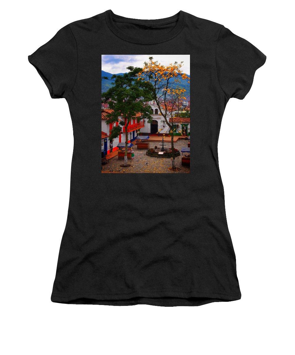 Antioquia Women's T-Shirt (Athletic Fit) featuring the photograph Antioquia by Skip Hunt