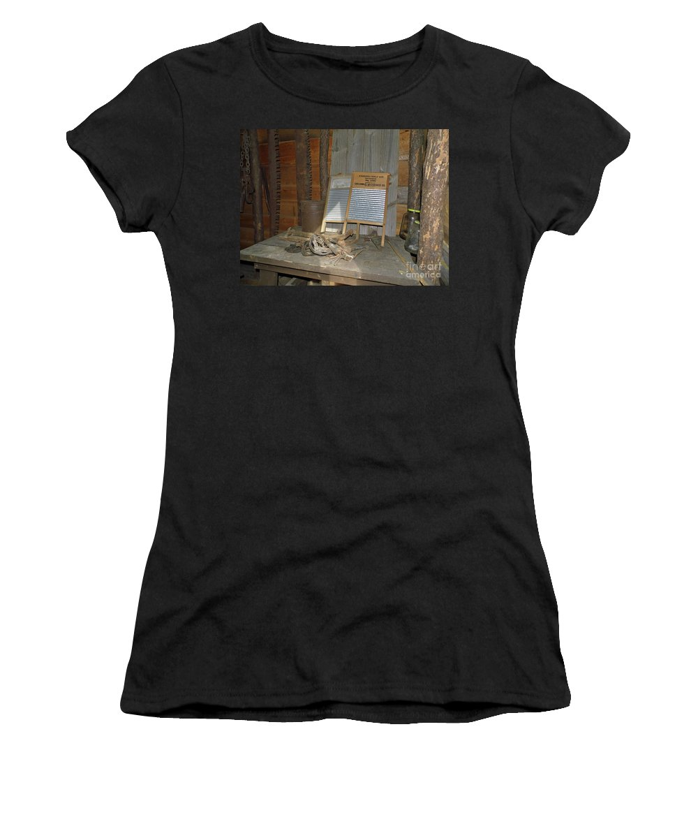 Board Women's T-Shirt (Athletic Fit) featuring the photograph Antique Wash Boards by D Hackett