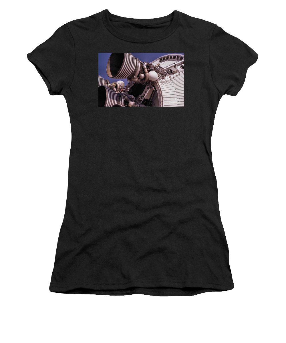 Technology Women's T-Shirt (Athletic Fit) featuring the photograph Apollo Rocket Engine by Richard Rizzo