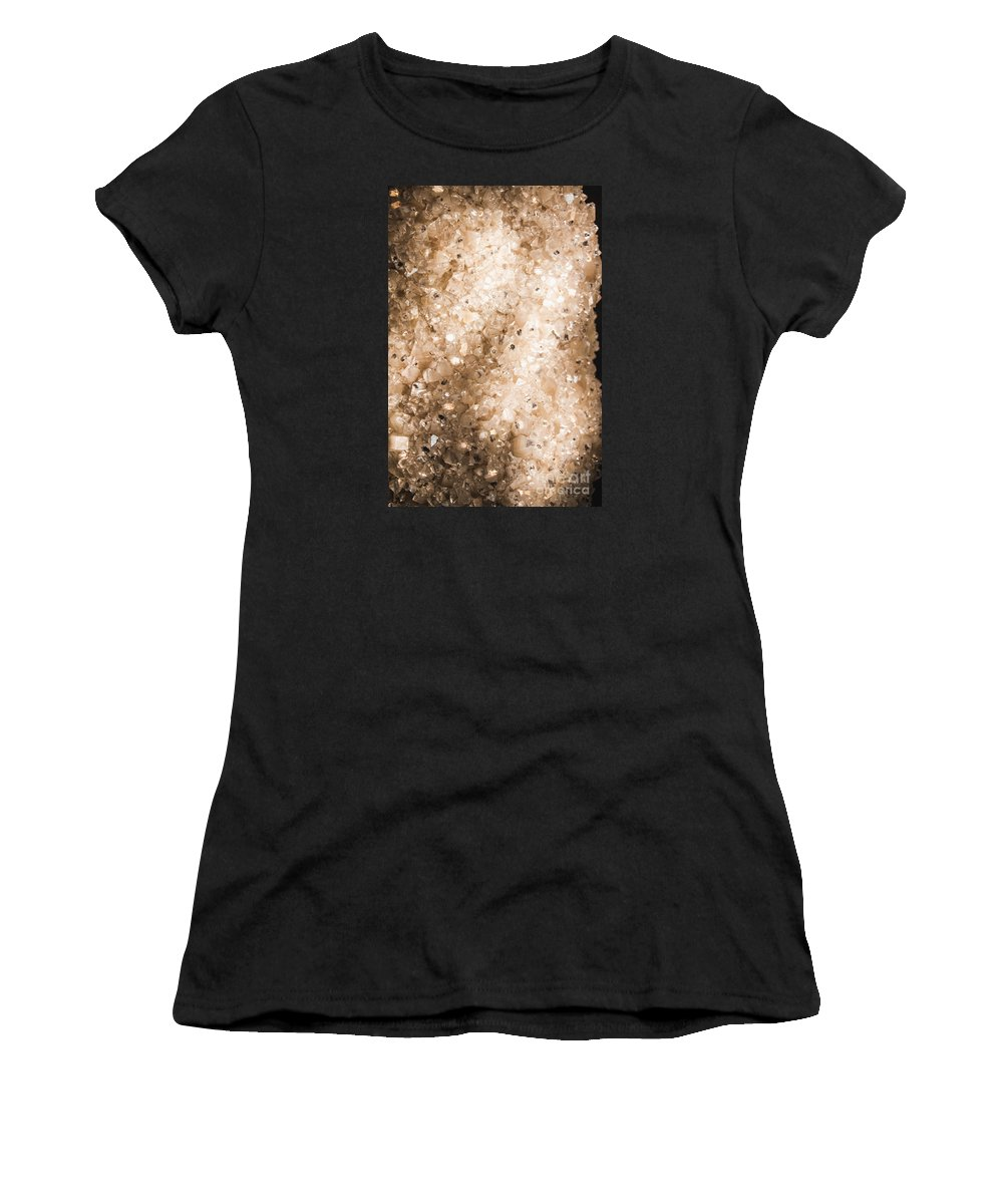 Apophyllite Women's T-Shirt featuring the photograph Apophyllite Mineral Background by Jorgo Photography - Wall Art Gallery