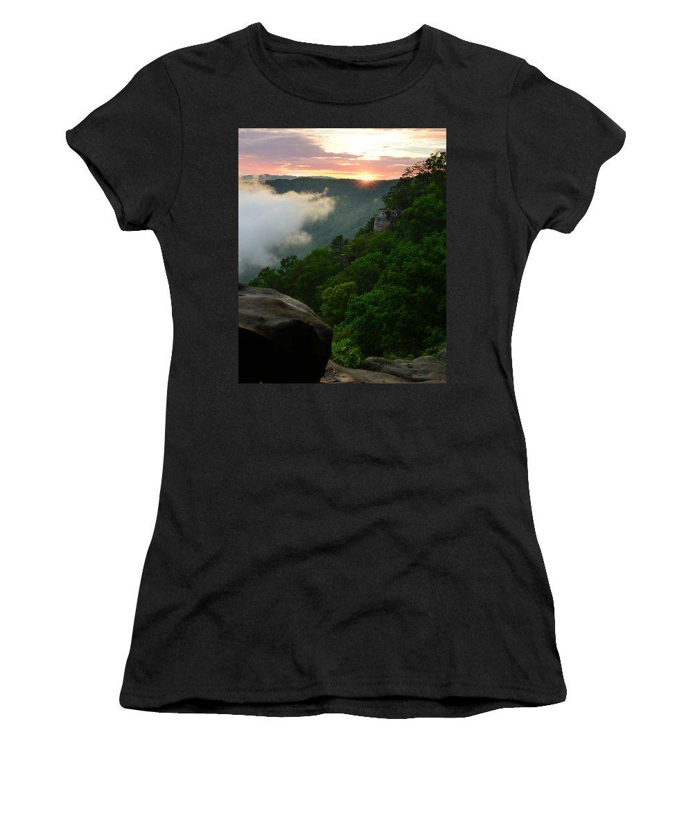 Landscape Women's T-Shirt featuring the photograph Appalachian Sunset by Lj Lambert