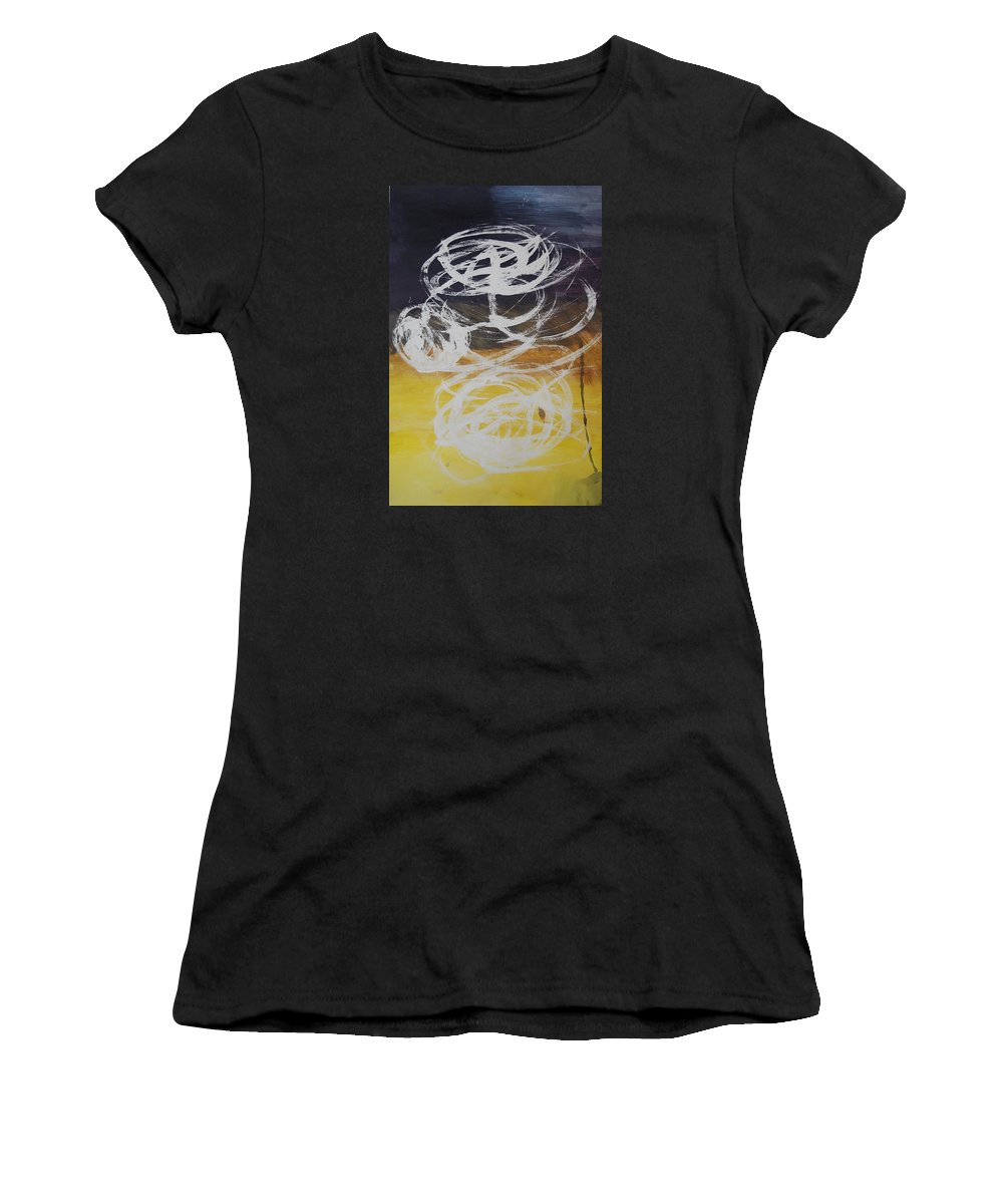 Learning Women's T-Shirt (Athletic Fit) featuring the painting Aprendiendo by Lauren Luna