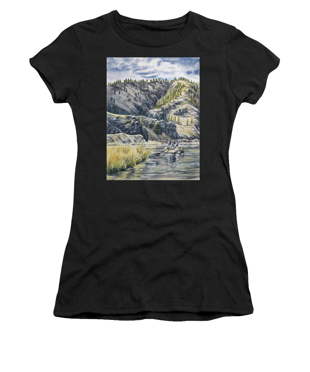 Waterccolor Women's T-Shirt featuring the painting April In Montana by Link Jackson