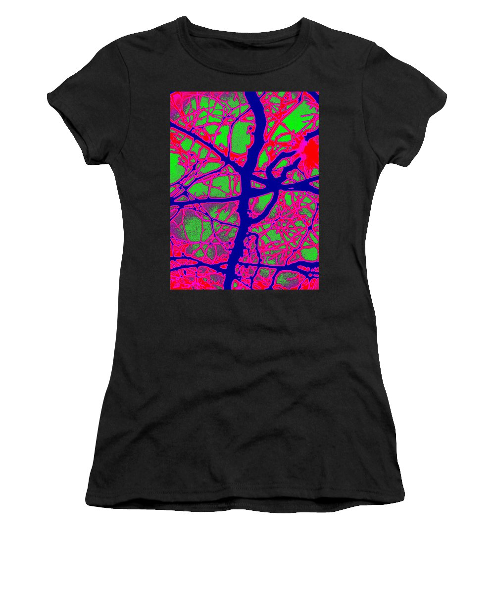 Abstract Women's T-Shirt (Athletic Fit) featuring the digital art Arbor Mist 2 by Tim Allen