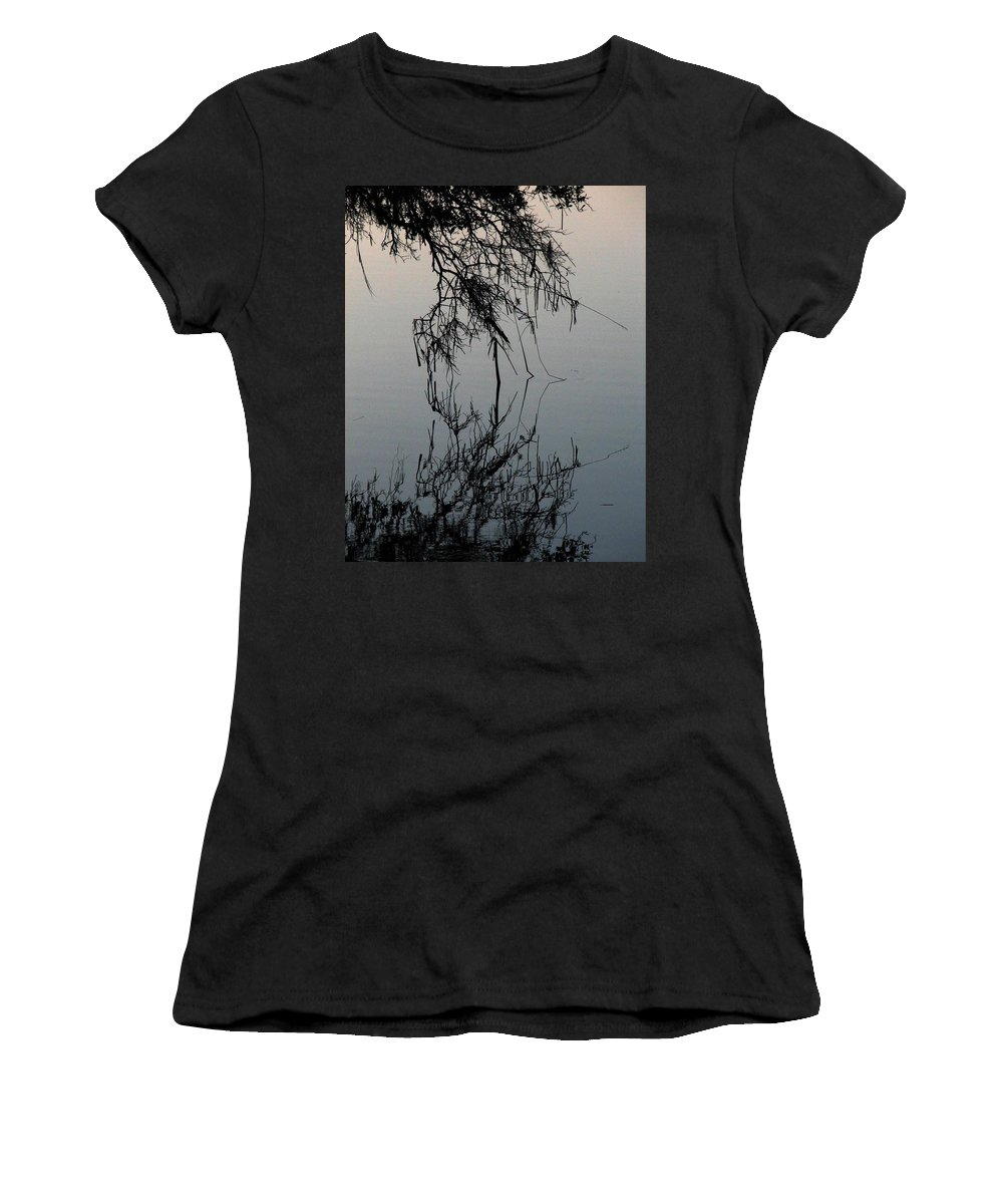 Arbor Women's T-Shirt (Athletic Fit) featuring the photograph Arbor Reflections by J M Farris Photography