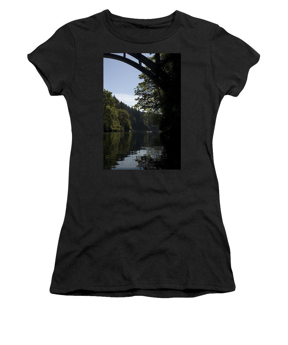 Bridge Women's T-Shirt (Athletic Fit) featuring the photograph Arch by Sara Stevenson