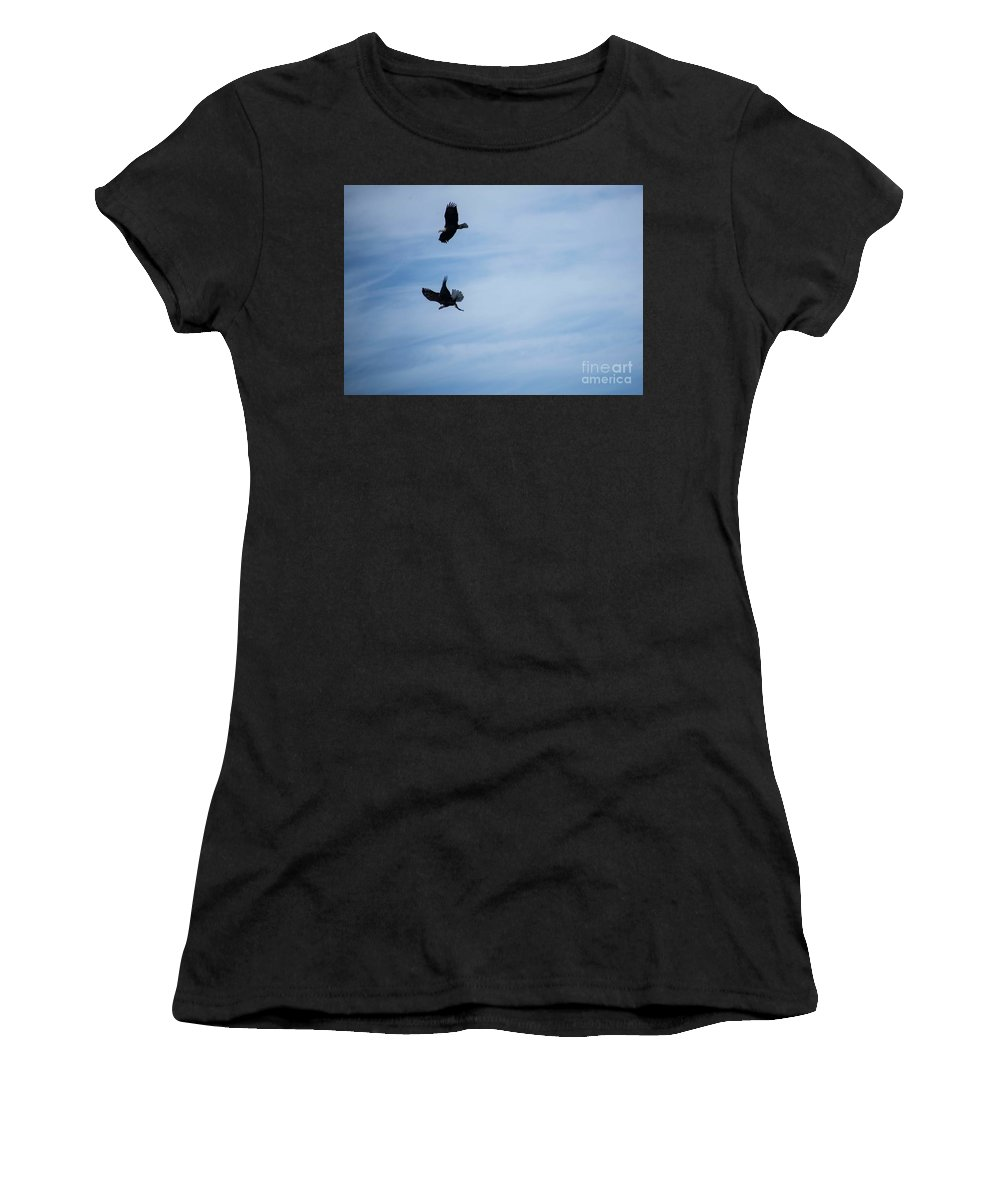 Eagles Women's T-Shirt (Athletic Fit) featuring the photograph Are You Sharing? by David Bearden