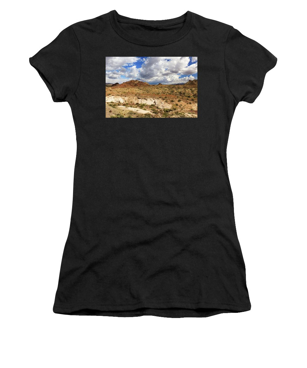 Landscape Women's T-Shirt (Athletic Fit) featuring the photograph Arizona Cliffs by James Eddy