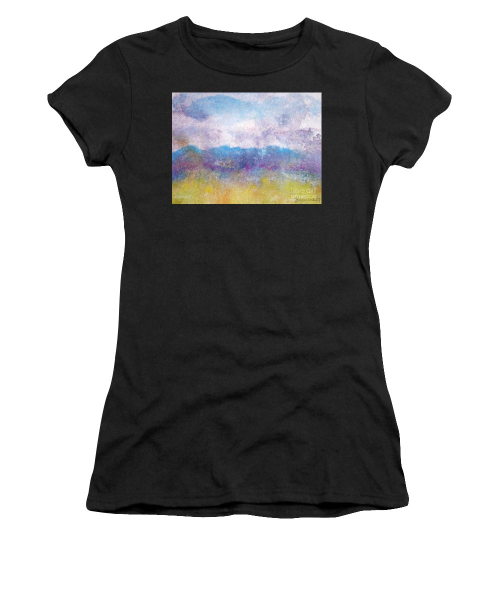 Abstract Women's T-Shirt featuring the painting Arizona Impressions by Jan Bennicoff