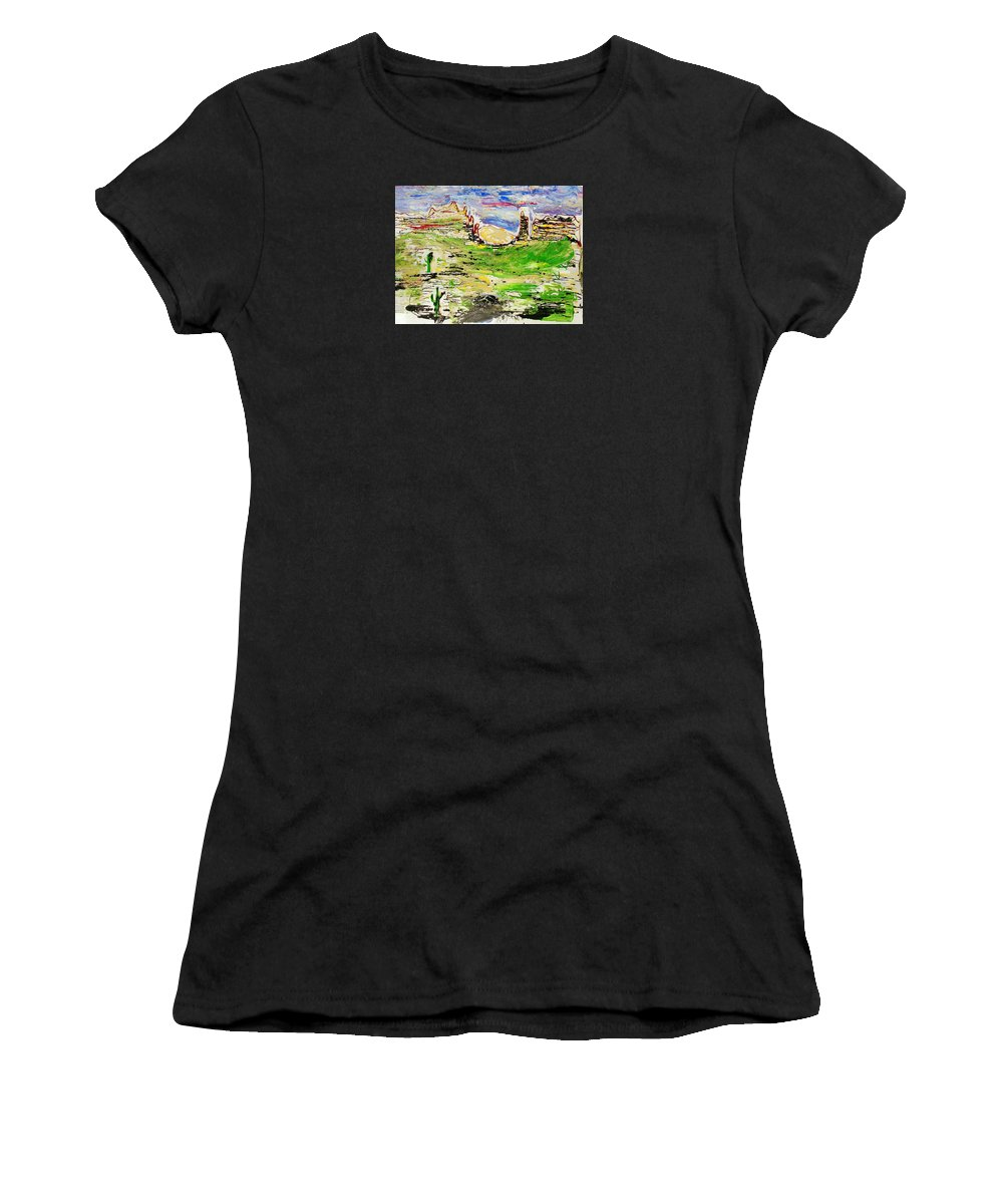 Impressionist Painting Women's T-Shirt featuring the painting Arizona Skies by J R Seymour