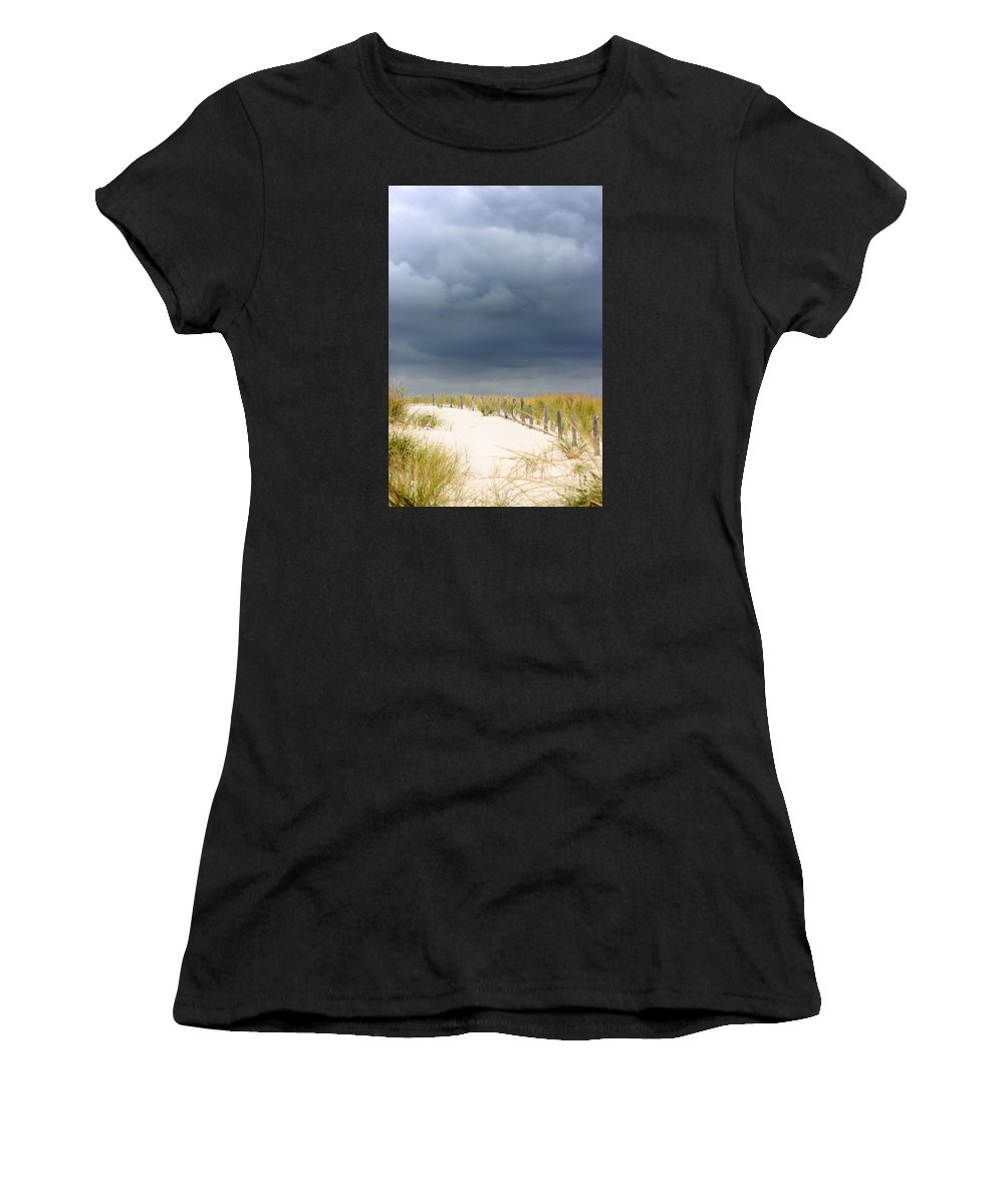 Beach Women's T-Shirt featuring the photograph Around The Bend by Dana DiPasquale