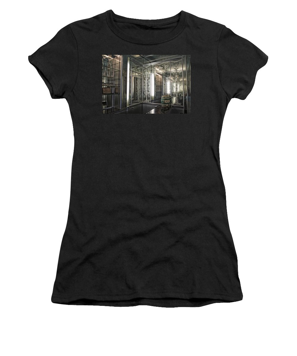 Vintage Women's T-Shirt featuring the mixed media Art Deco Bar by Thomas Woolworth