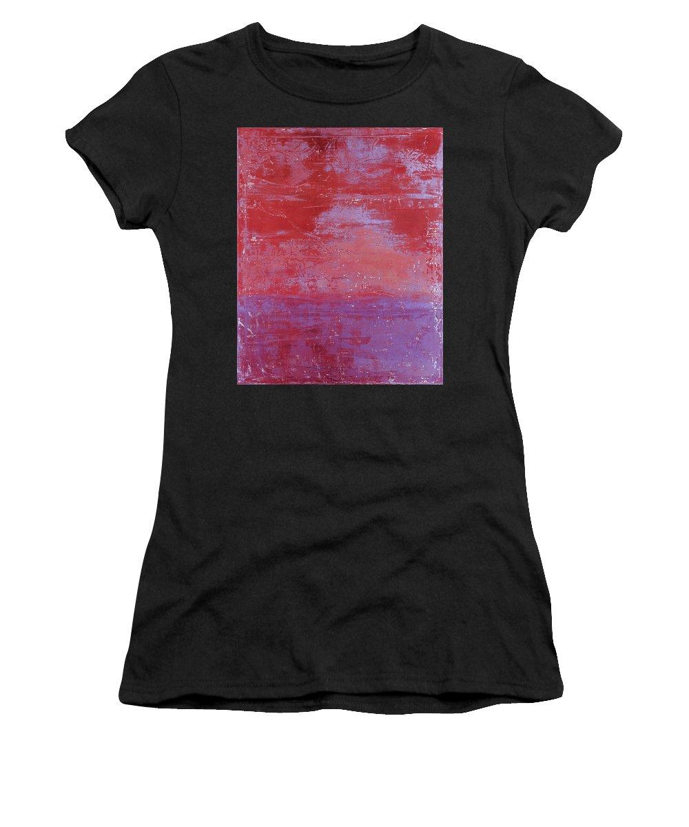 Fine Art Prints Women's T-Shirt featuring the painting Art Print Redwall 4 by Harry Gruenert