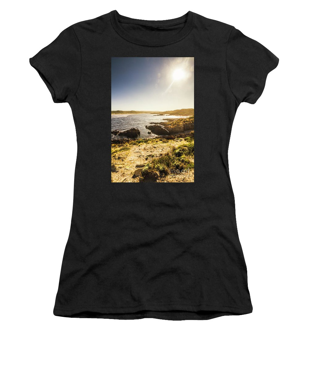 Arthur River Women's T-Shirt featuring the photograph Arthur River Tasmania by Jorgo Photography - Wall Art Gallery