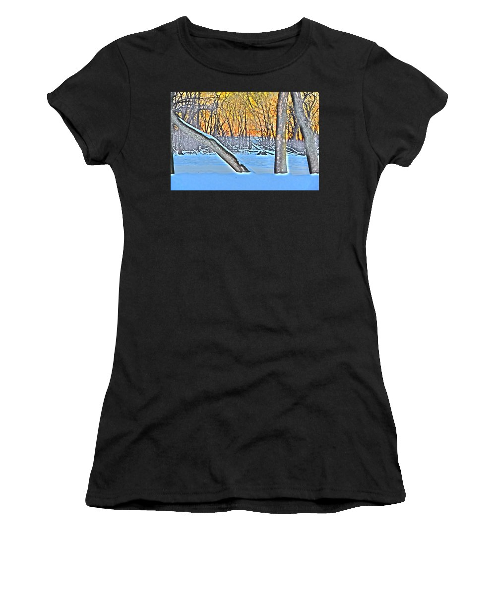 River Front Women's T-Shirt (Athletic Fit) featuring the photograph Artsee by Deborah Irving