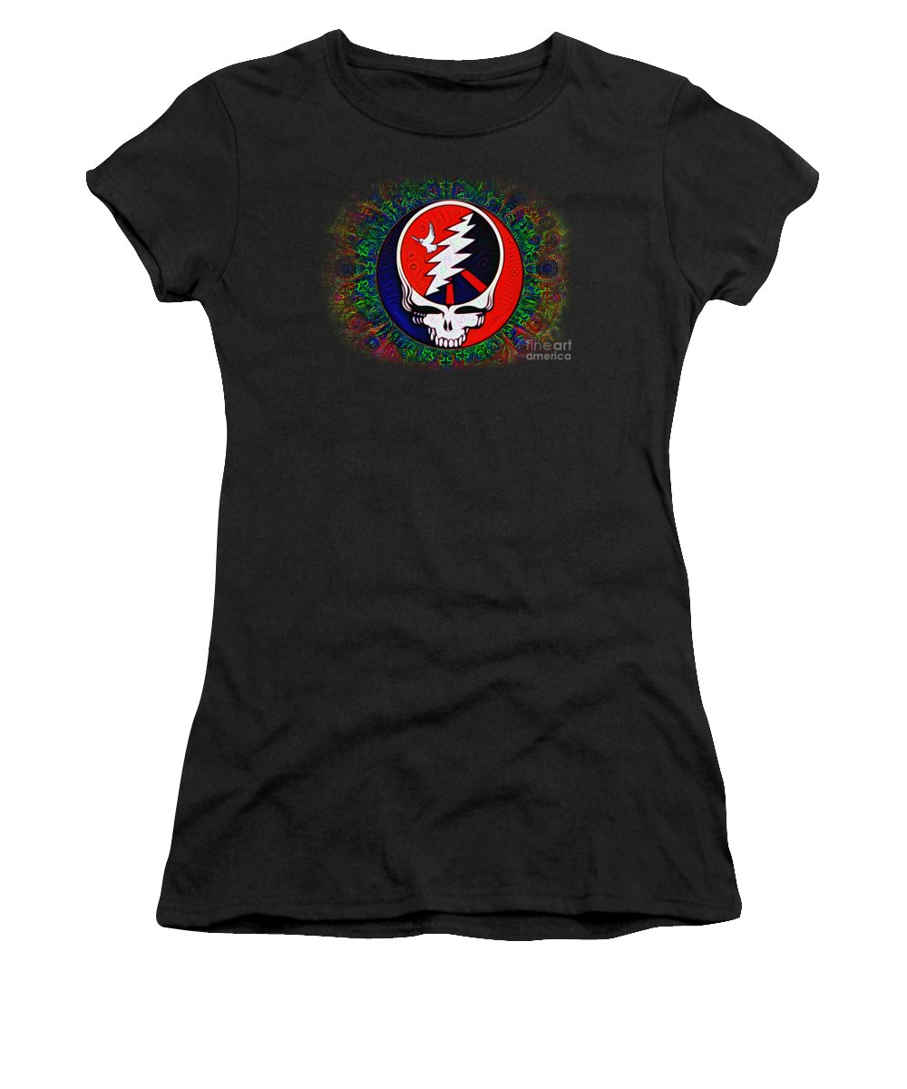 Grateful Women's T-Shirt featuring the painting Grateful Dead by Bill Cannon