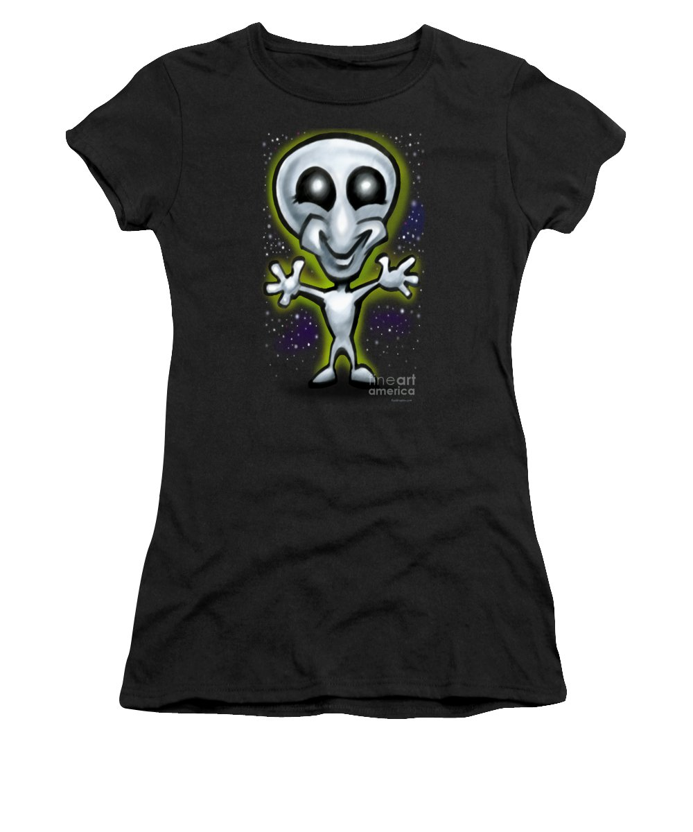 Alien Women's T-Shirt (Athletic Fit) featuring the digital art Alien by Kevin Middleton