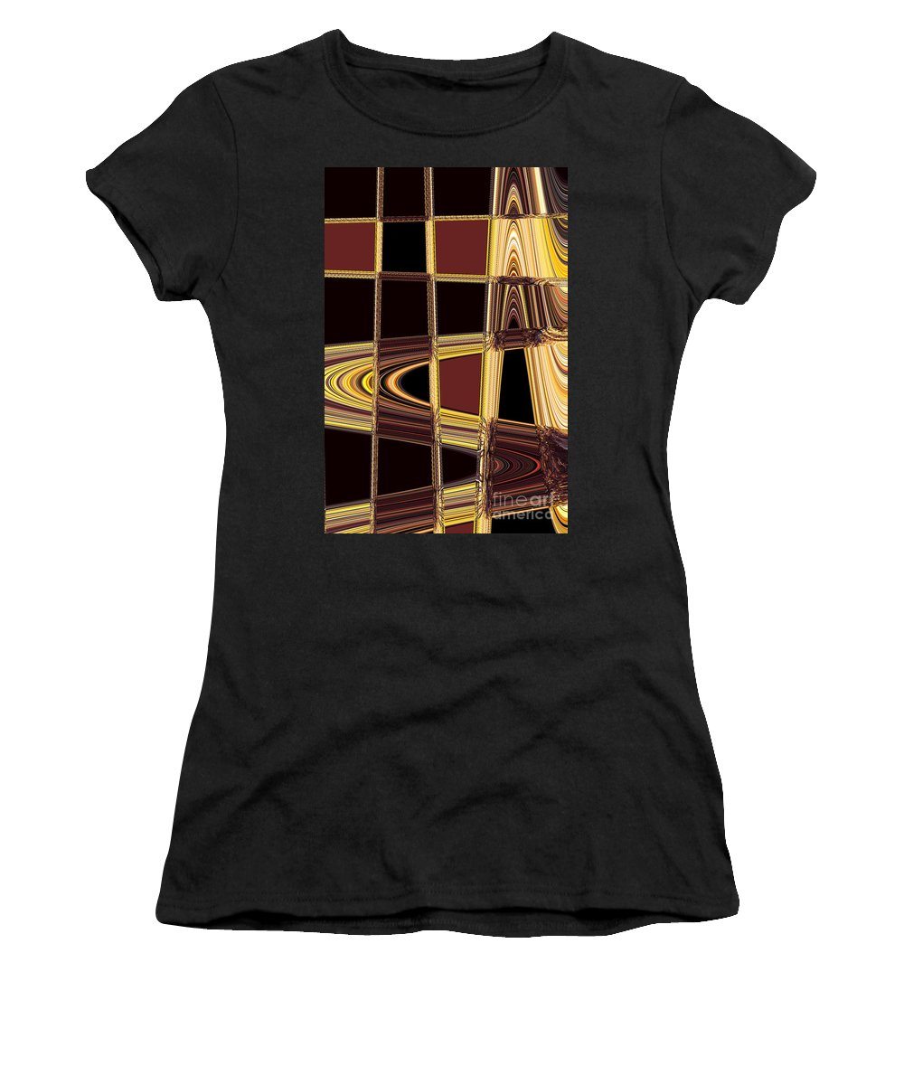 Abstract Women's T-Shirt featuring the photograph Aspen Grove Abstract by Norman Andrus