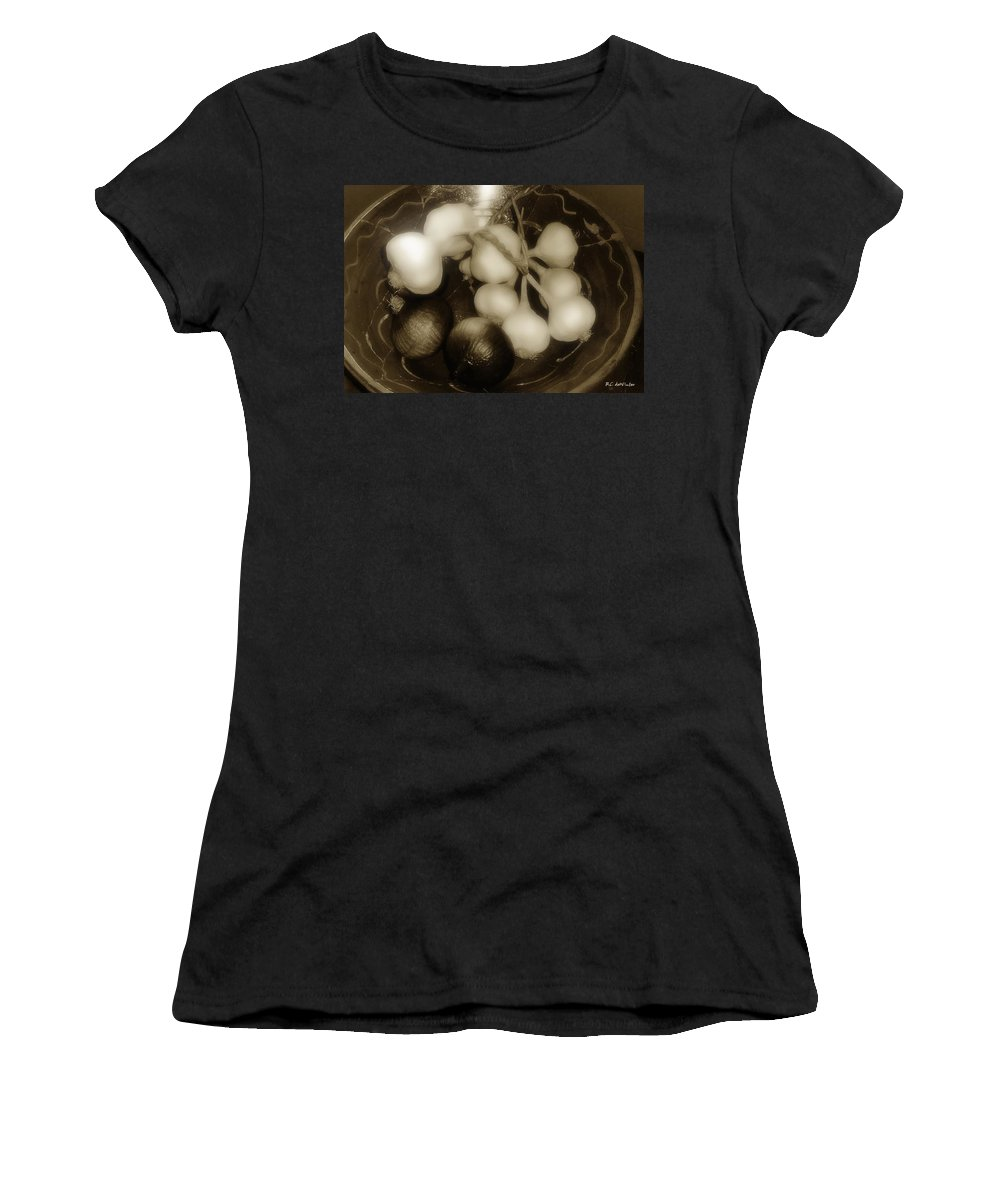 Bowl Women's T-Shirt (Athletic Fit) featuring the photograph Assorted Alliums by RC DeWinter