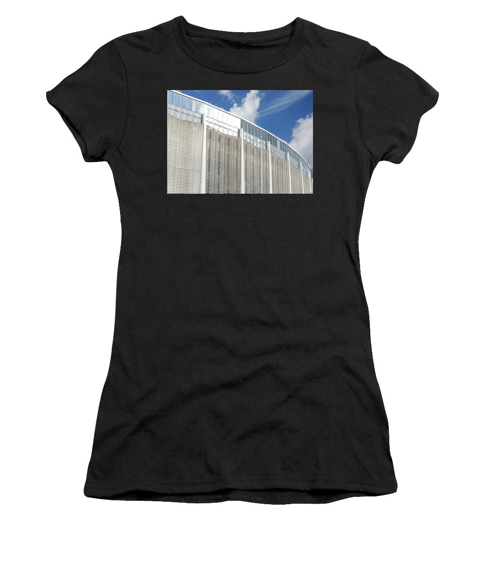 Wright Fine Art Women's T-Shirt (Athletic Fit) featuring the photograph Astrodome by Paulette B Wright