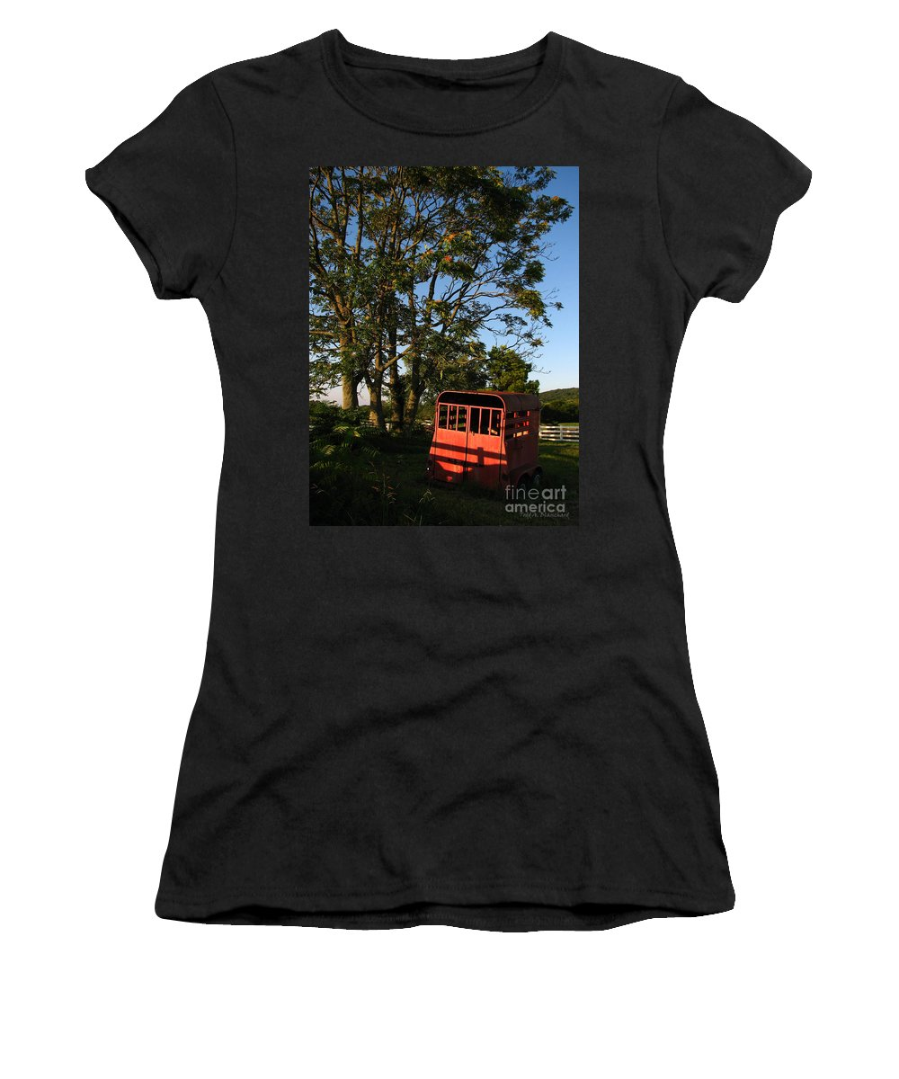 Landscape Women's T-Shirt (Athletic Fit) featuring the photograph At Rest by Todd A Blanchard
