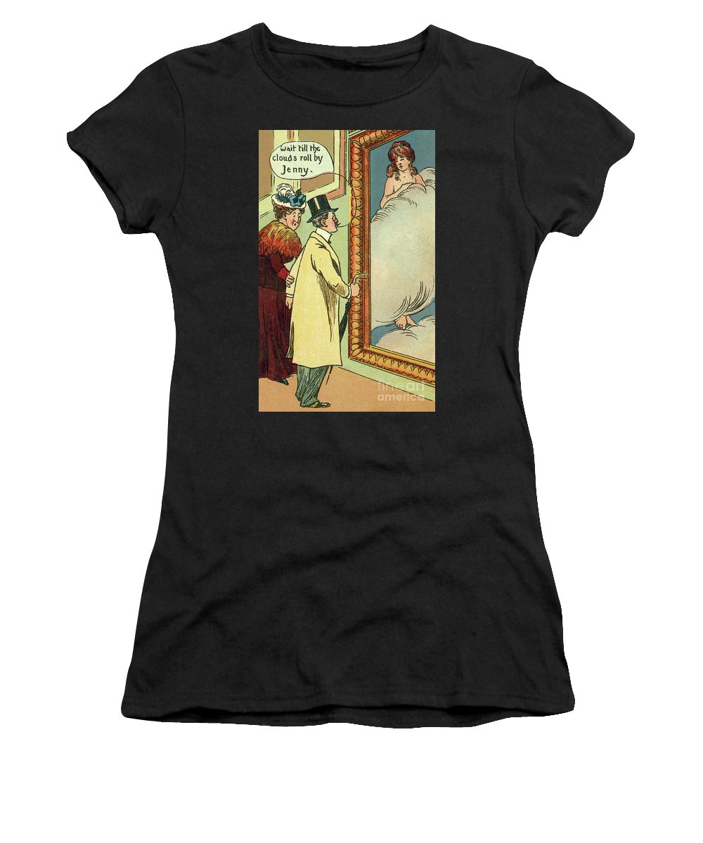 Vintage Women's T-Shirt featuring the drawing At The Gallery by English School