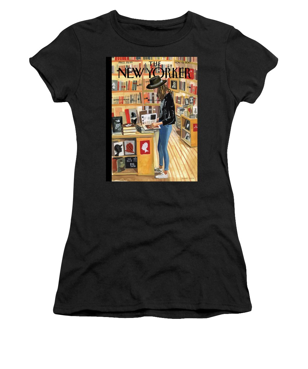 At The Strand Women's T-Shirt featuring the digital art At The Strand by Jenny Kroik