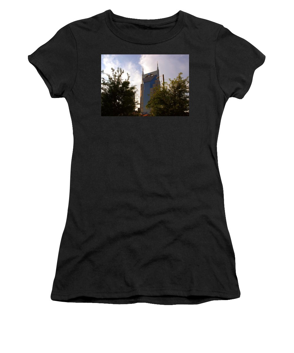 Nashville Women's T-Shirt (Athletic Fit) featuring the photograph Att And Batman Are The Same by Susanne Van Hulst