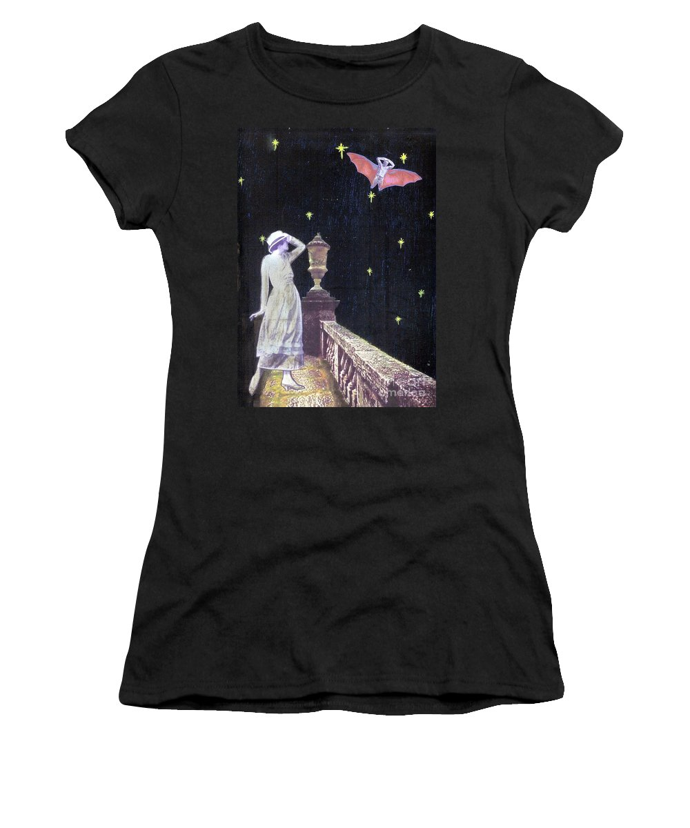 Batman Women's T-Shirt (Athletic Fit) featuring the mixed media Attempted Pick Up by Desiree Paquette