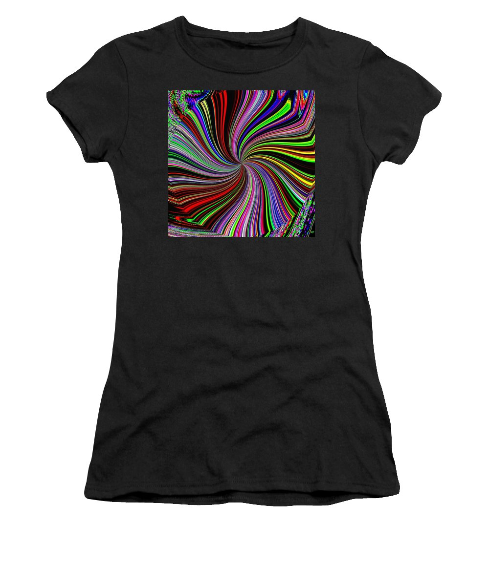 Abstract Women's T-Shirt (Athletic Fit) featuring the digital art Attitude by Will Borden