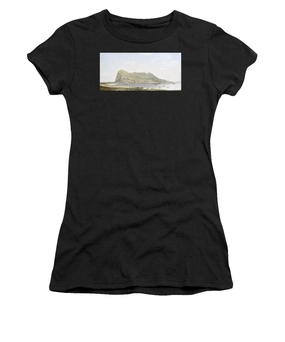 Attributed To Thomas Ender (austrian Women's T-Shirt featuring the painting Attributed To Thomas Ender by MotionAge Designs