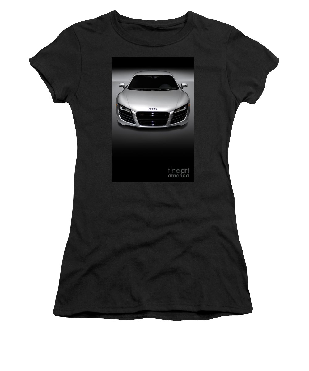 Audi R8 Women's T-Shirt (Athletic Fit) featuring the photograph Audi R8 Sports Car by Oleksiy Maksymenko