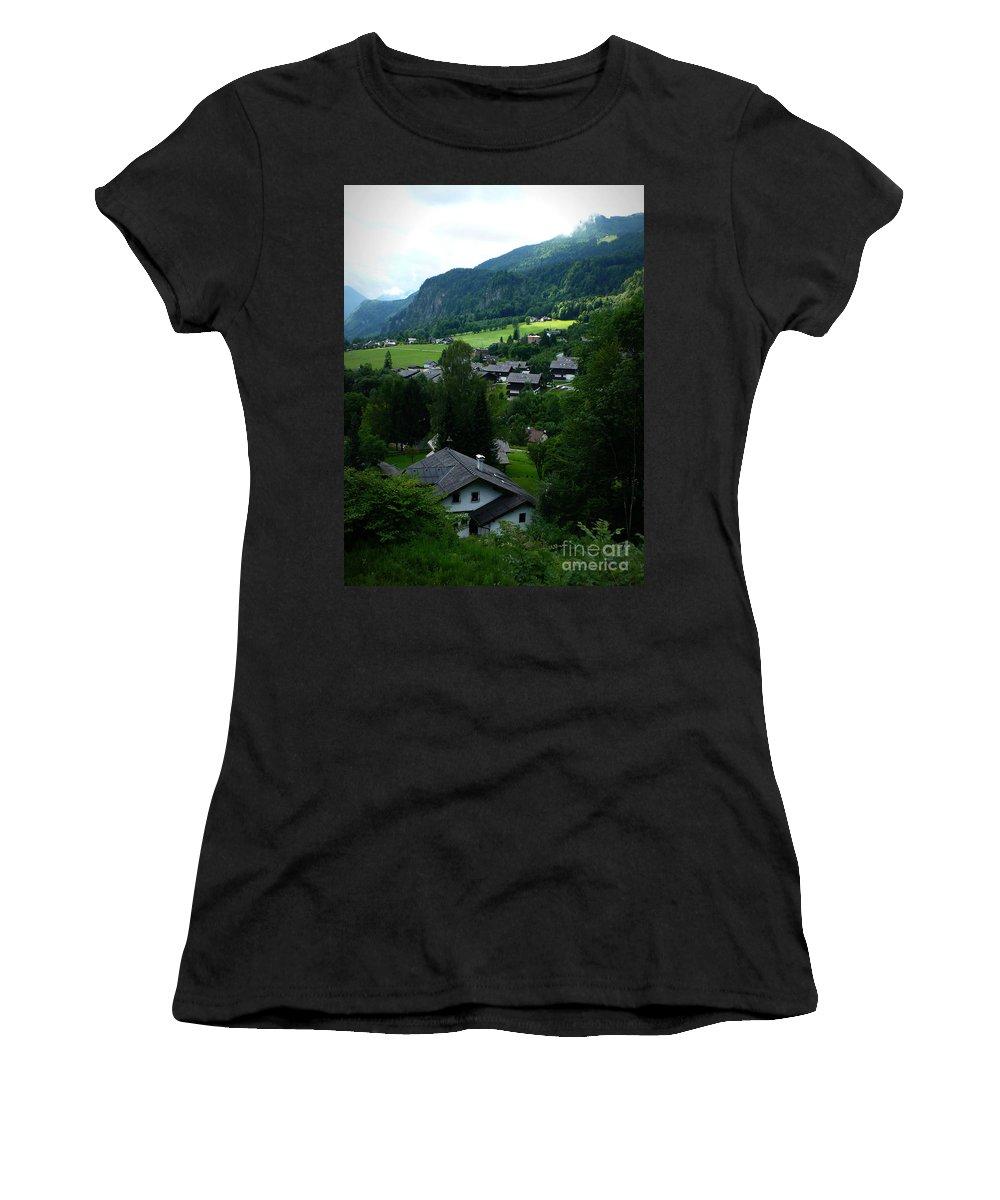 Austria Women's T-Shirt featuring the photograph Austrian Landscape by Carol Groenen