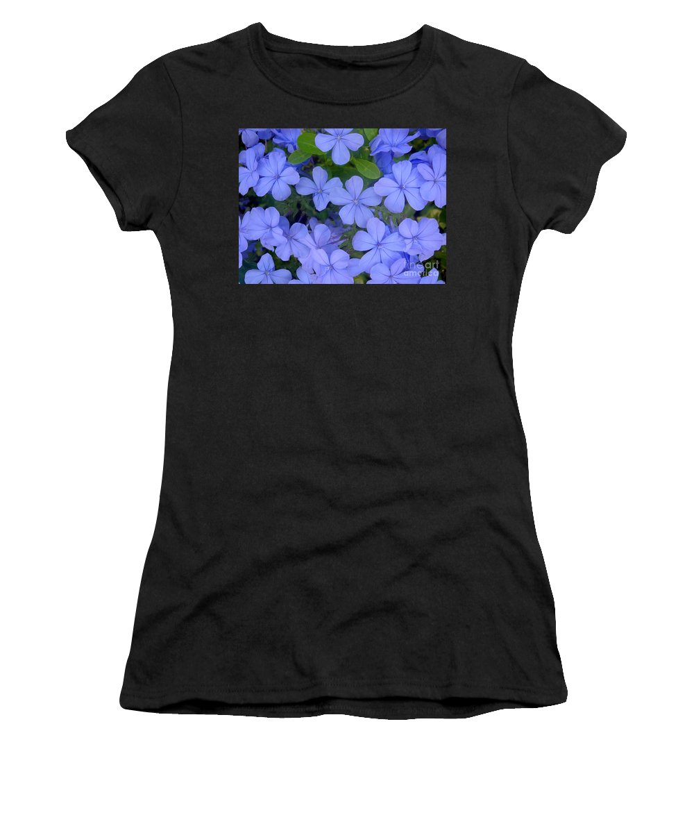 Nature Women's T-Shirt featuring the photograph Autumn Blues by Lucyna A M Green