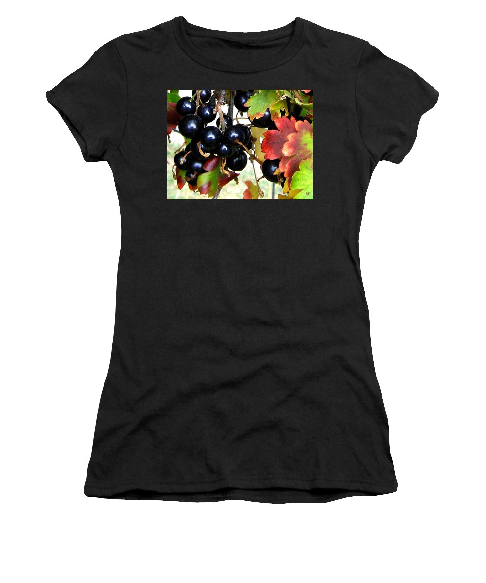 Autumn Women's T-Shirt (Athletic Fit) featuring the photograph Autumn Jostaberries by Will Borden