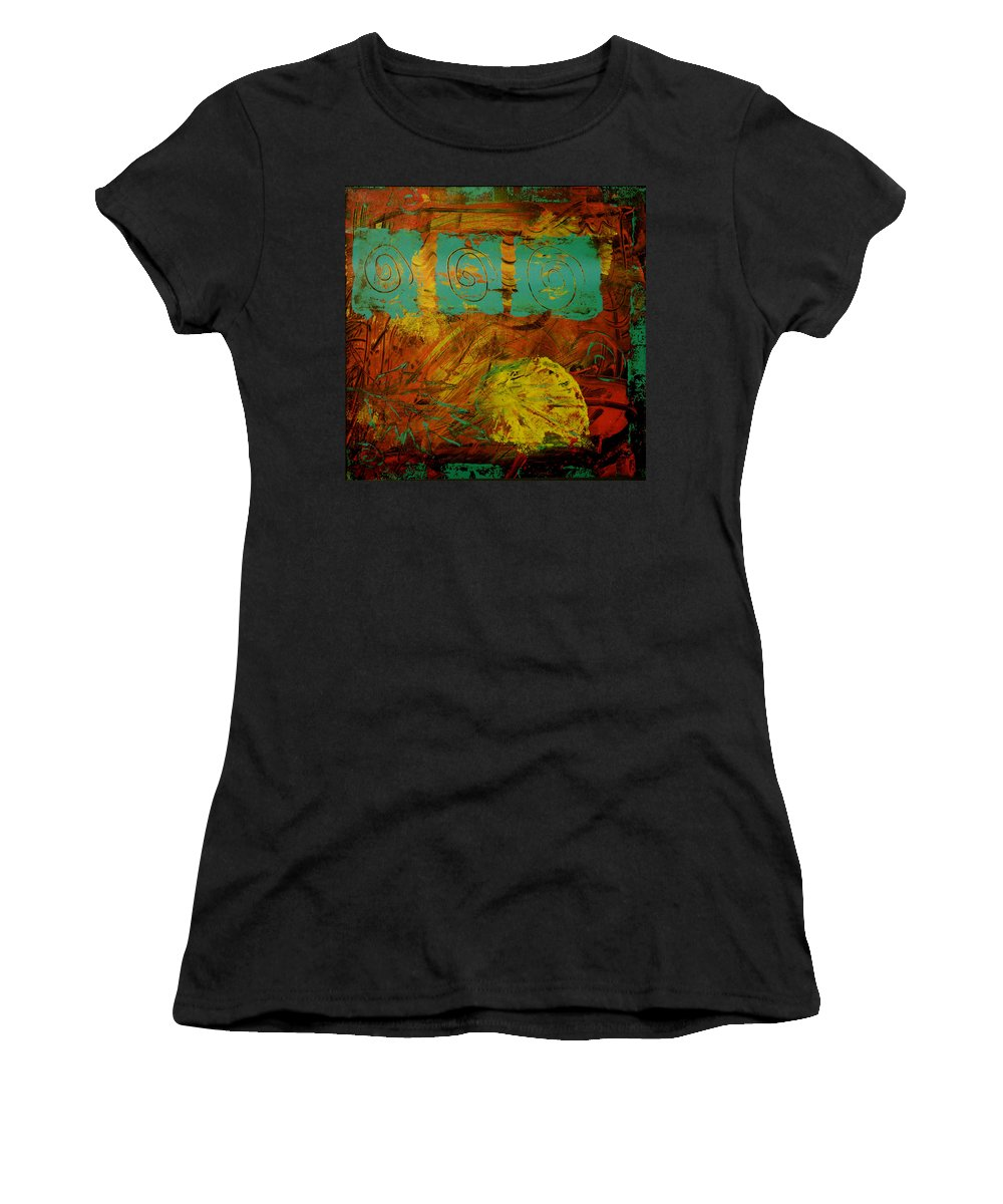 Acrylic Women's T-Shirt (Athletic Fit) featuring the painting Autumn Reformated by Wayne Potrafka