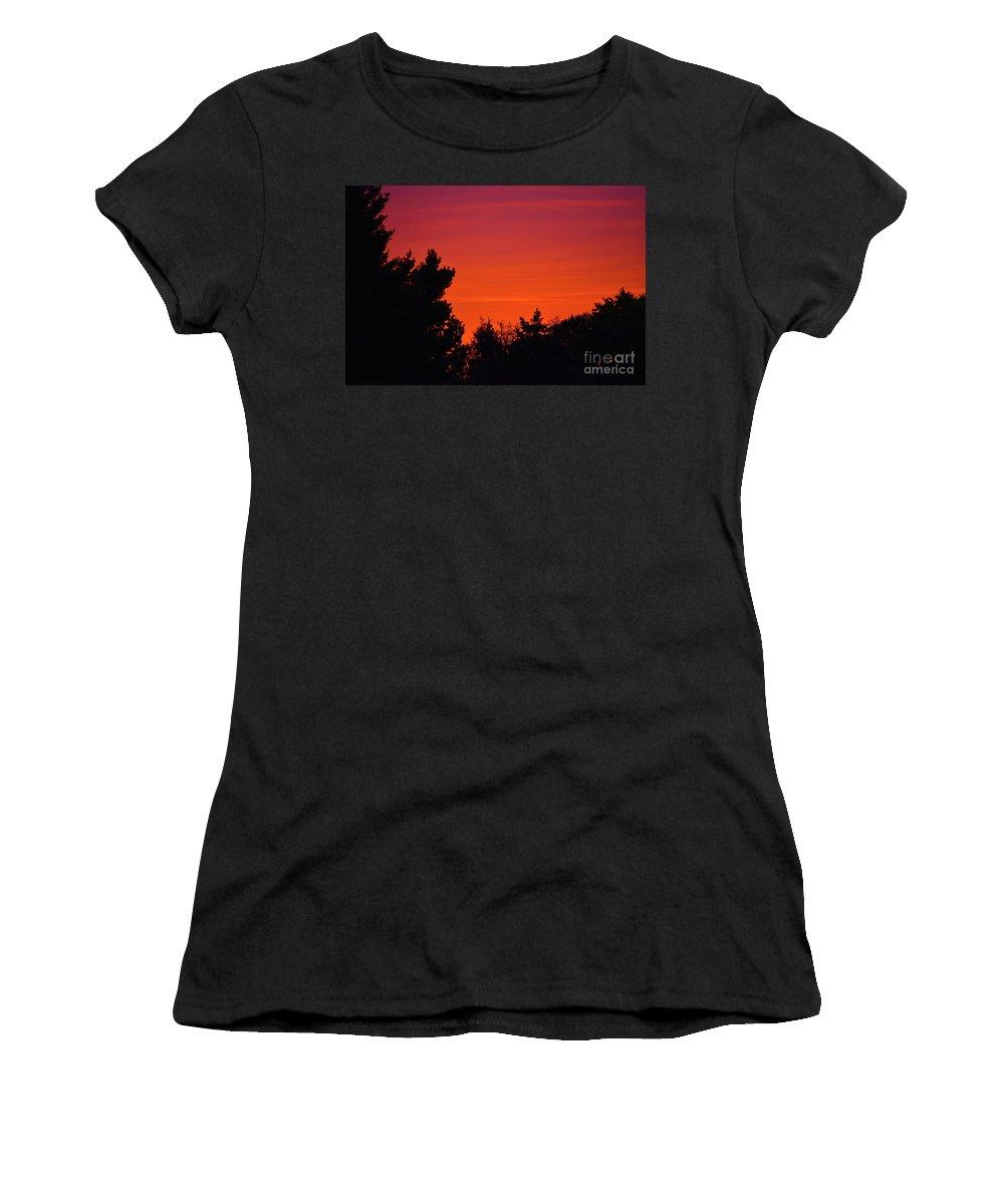 Autumn Sunrise Women's T-Shirt featuring the photograph Autumn Sunrise by Patti Whitten