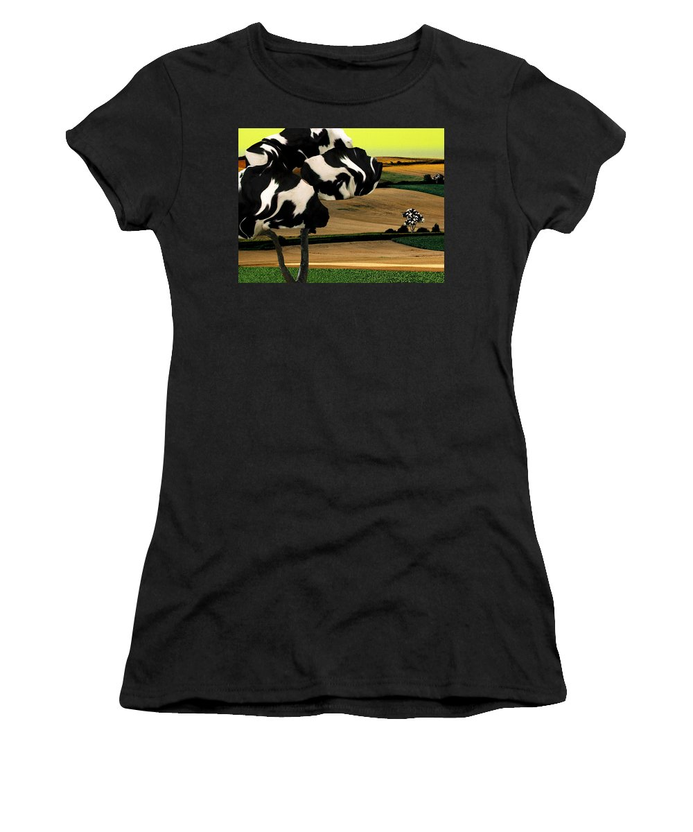 Cow Women's T-Shirt featuring the photograph Avenue by Katherine Pearson