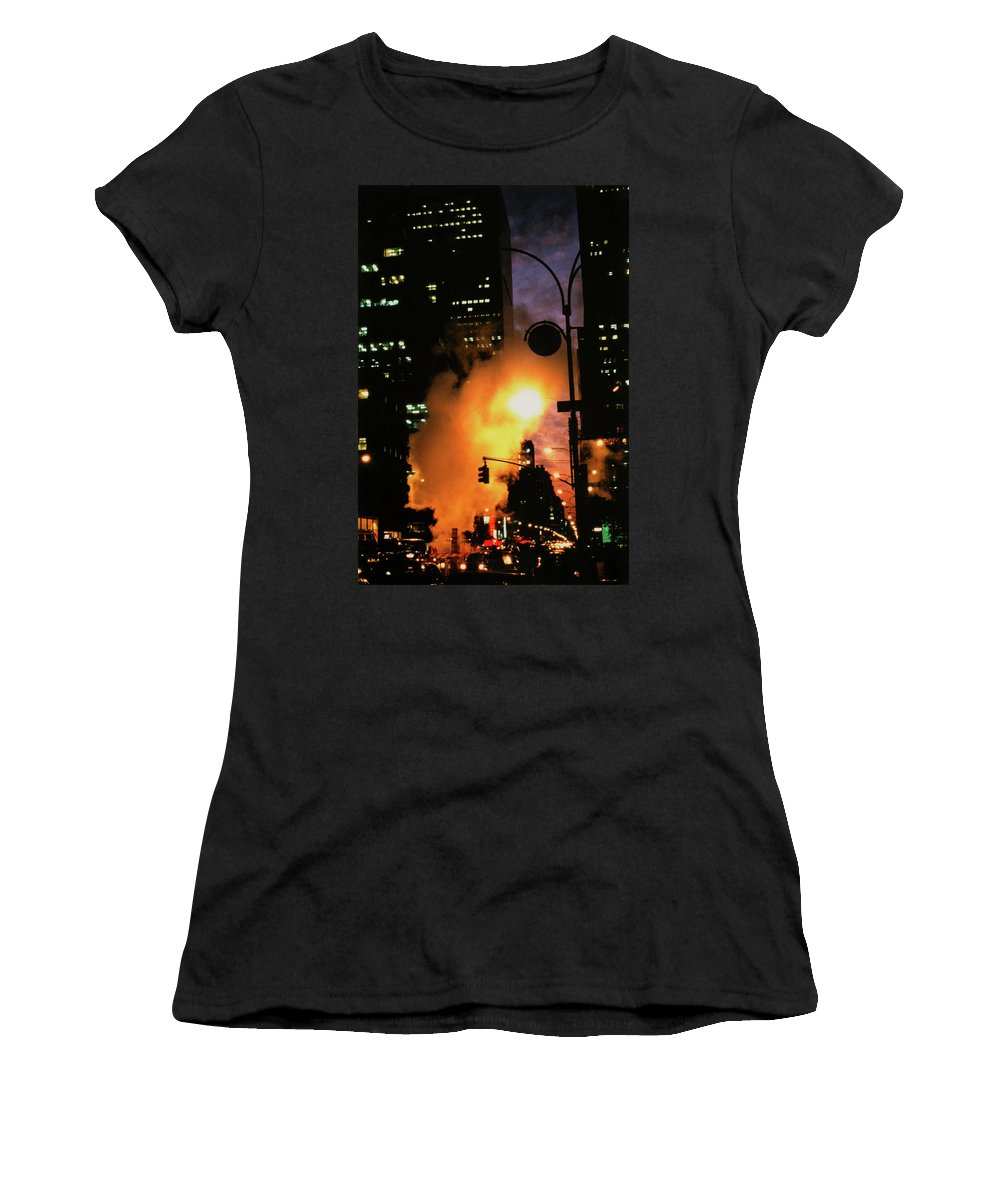 Nyc Women's T-Shirt (Athletic Fit) featuring the photograph Avenue Of The Americas by Daniele Zambardi