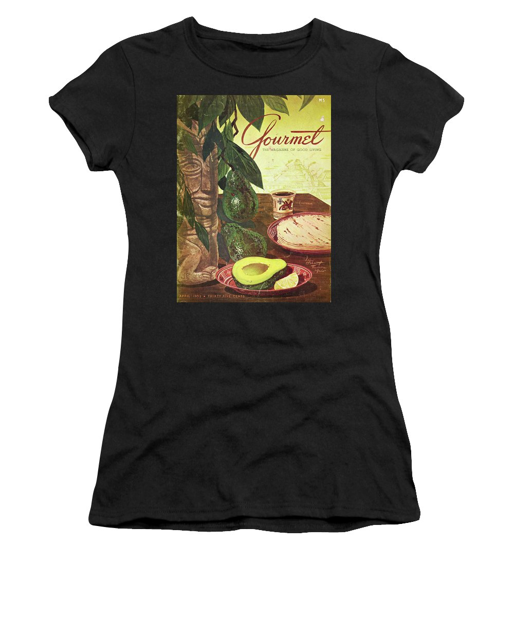 Food Women's T-Shirt featuring the photograph Avocado And Tortillas by Henry Stahlhut