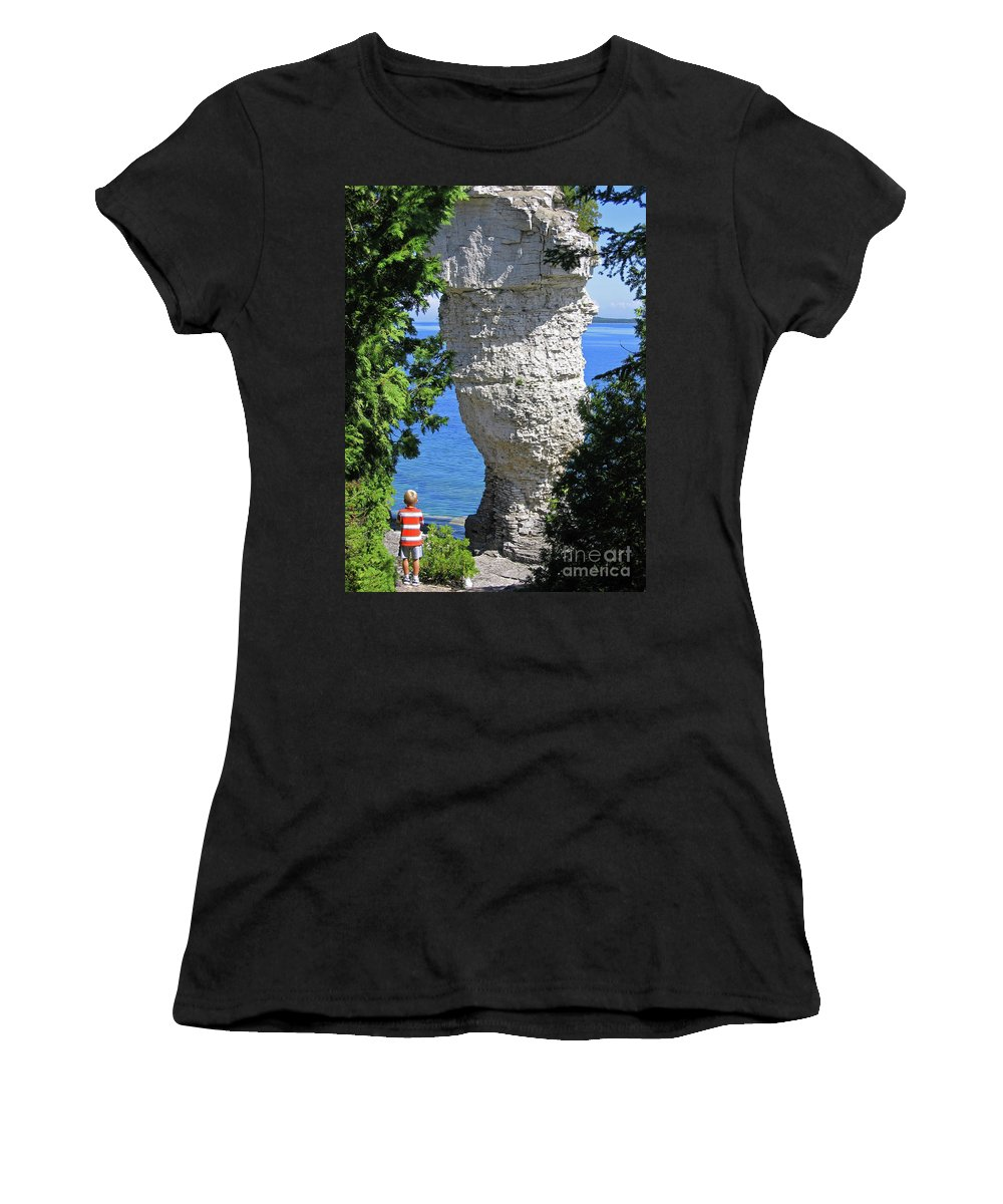 Stone Women's T-Shirt featuring the photograph Awesome All Around by Ann Horn