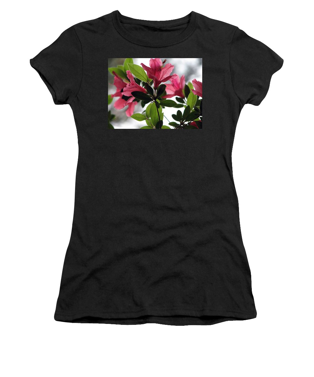Azalea Women's T-Shirt (Athletic Fit) featuring the photograph Azaleas Iv by Stacey May