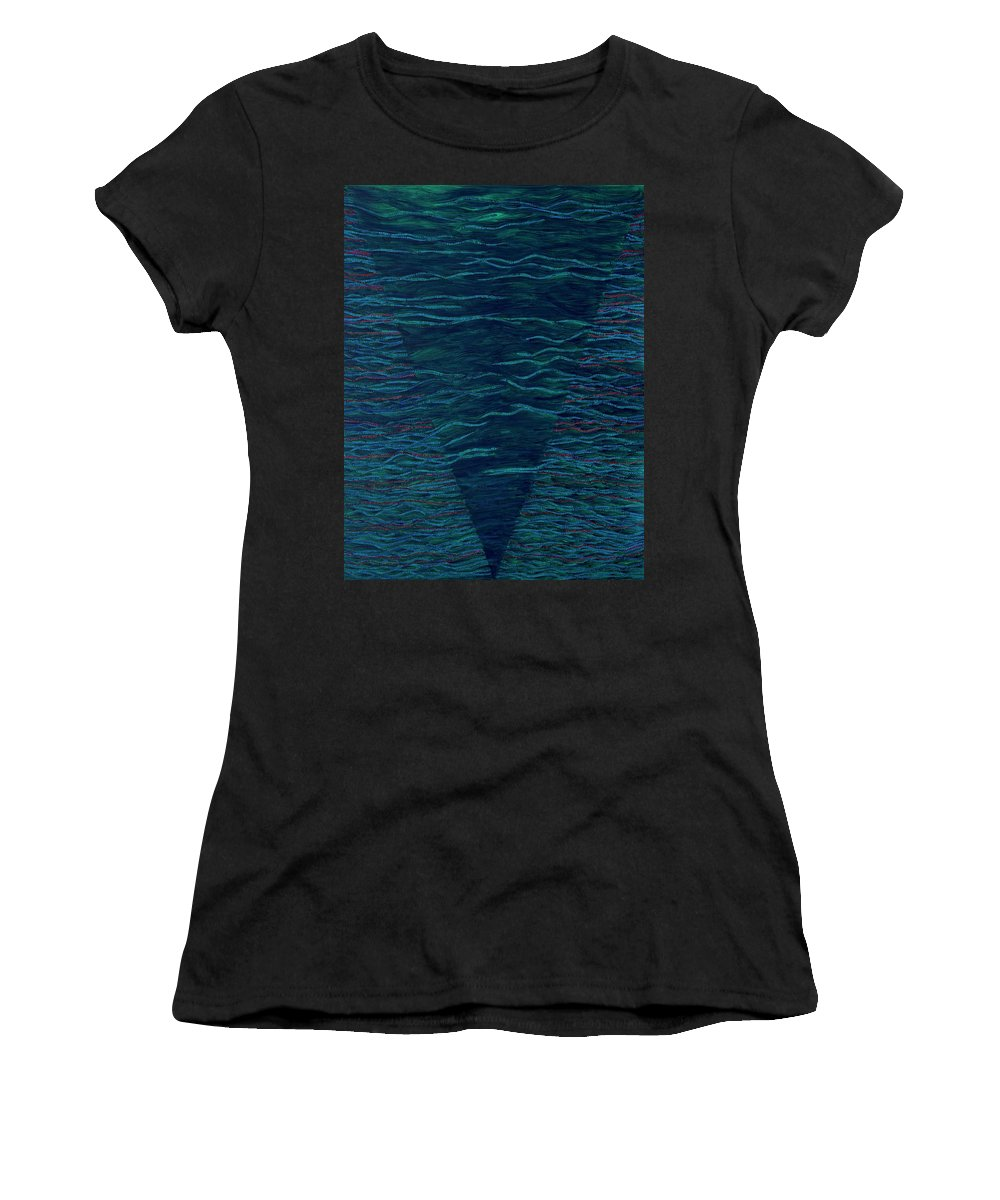 Spiritual Women's T-Shirt (Athletic Fit) featuring the painting Back To Heaven 2 by Kyung Hee Hogg