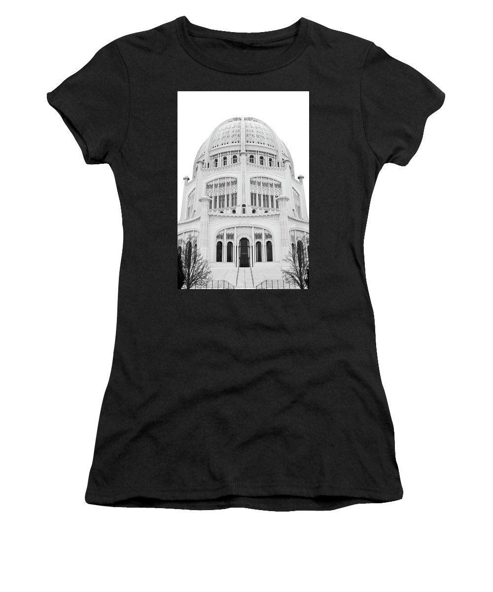 Photo Women's T-Shirt (Athletic Fit) featuring the photograph Bahai Black And White 1 by Ryan Osgood