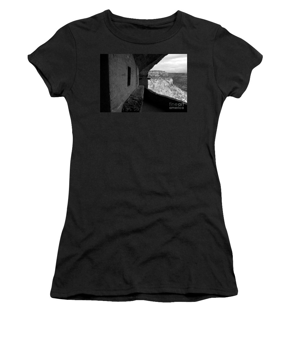 Balcony House Women's T-Shirt (Athletic Fit) featuring the photograph Balcony House by David Lee Thompson
