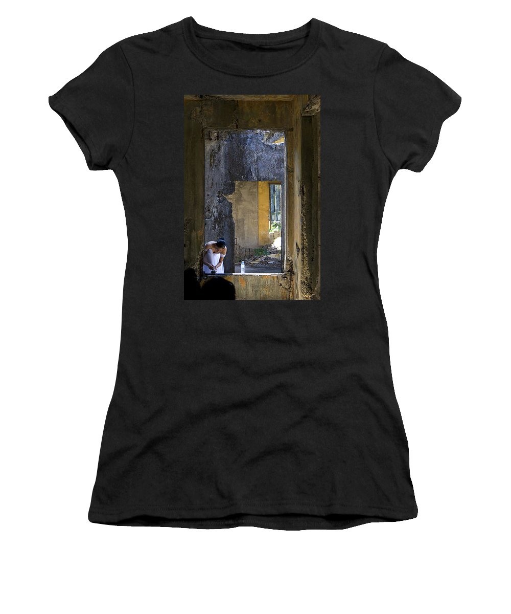 Ballet Dancer Women's T-Shirt (Athletic Fit) featuring the photograph Ballet Dancer8 by George Cabig